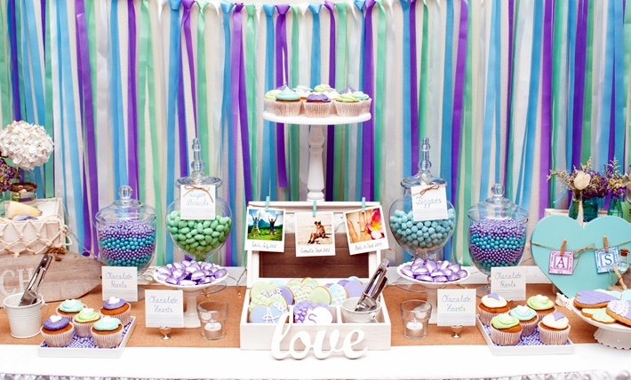 Purple Dessert Table