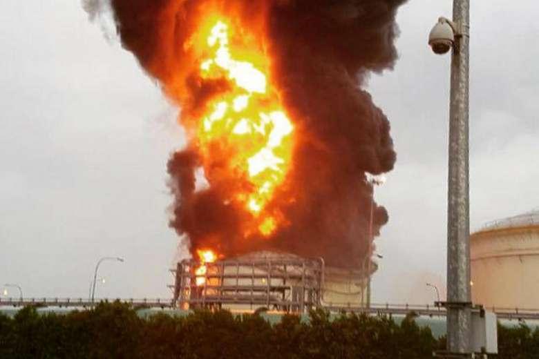 Jurong Island Fire