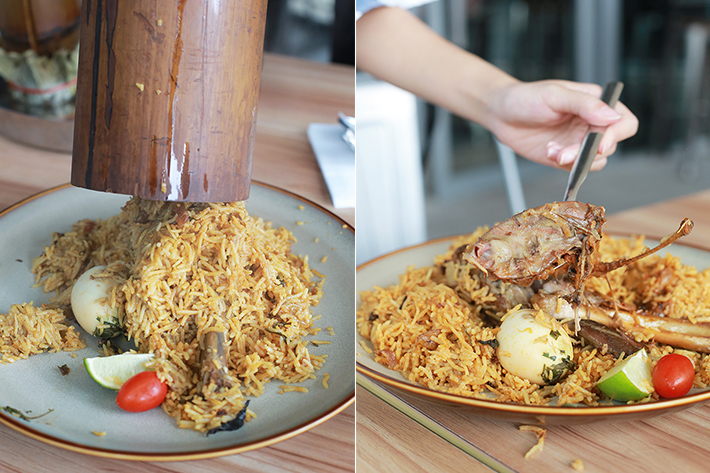 99 Bistro & Kitchen Bamboo Briyani Collage