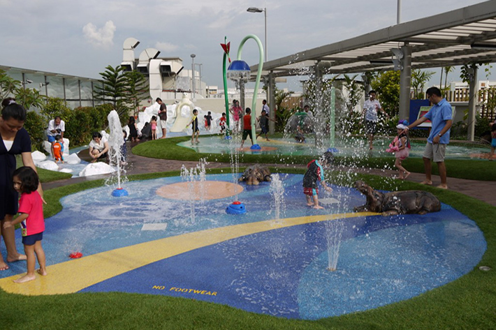 Tampines 1 Rooftop Water Playground