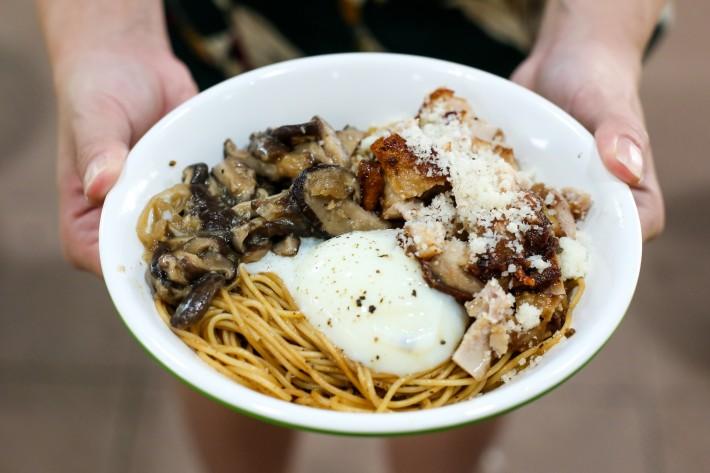 Taste Affair - Smoke Chicken Thigh & Mushroom Pasta