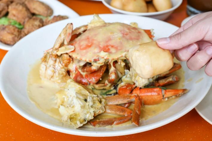 21 Seafood - Mantou and Salted Egg Yolk Crab