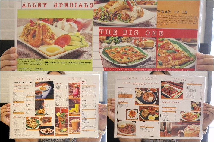 Prata Alley Menu