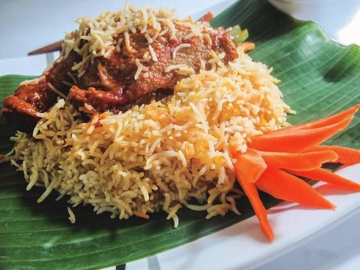 Saffrons Cafeteria Mutton Biryani