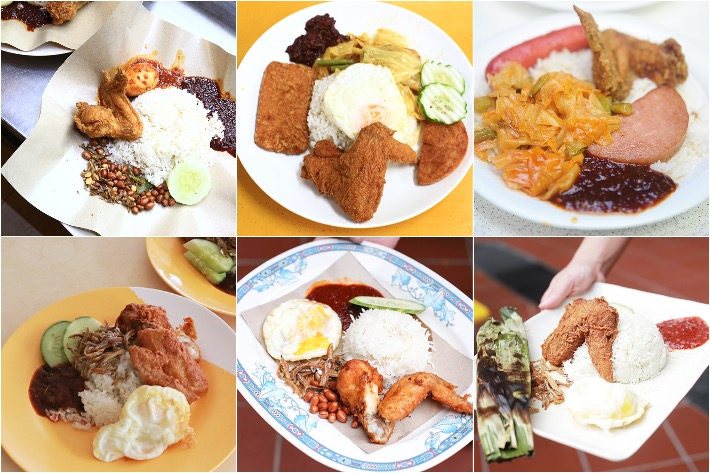 Nasi Lemak Collage