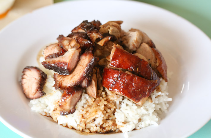 Jiu Jiang Shao La Duck and Char Siew Rice