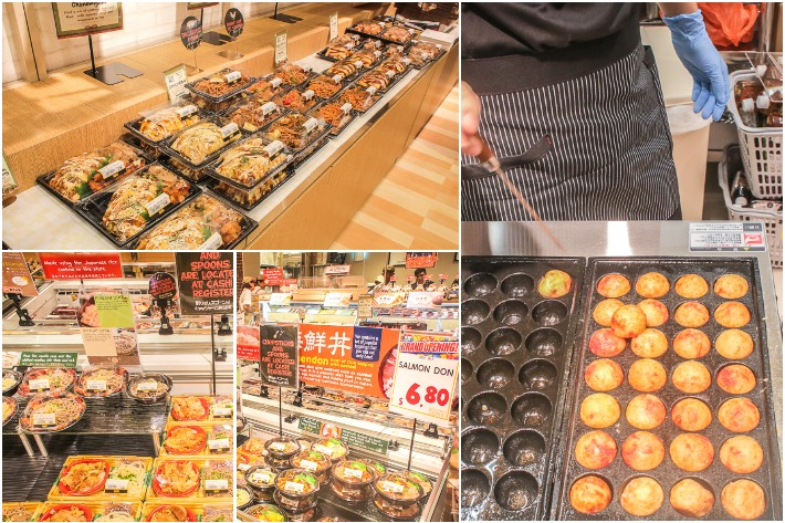 Don Don Donki Cooked Food Collage