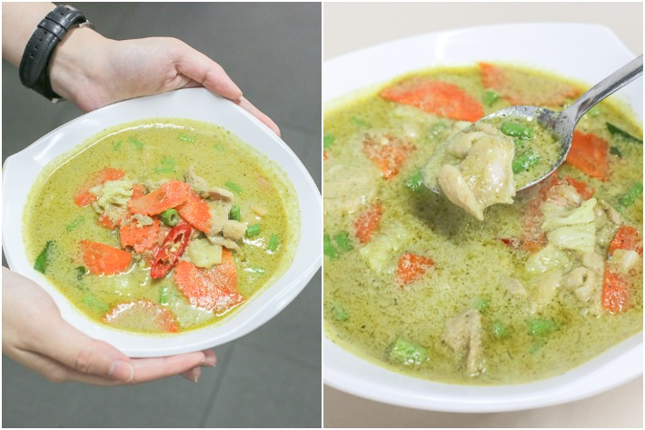 Hom Aroy Green Curry Collage