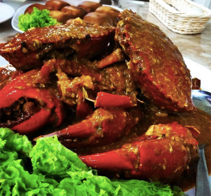 SEGAR VILLAGE chilli crab.