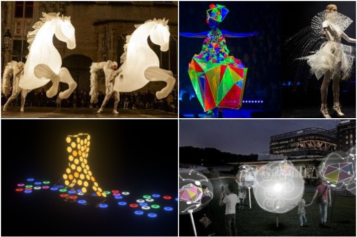 Singapore Night Festival Collage