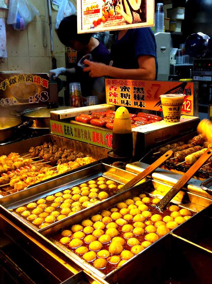 Curry fish balls