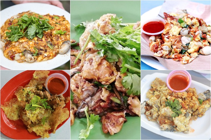 Oyster Omelette Collage