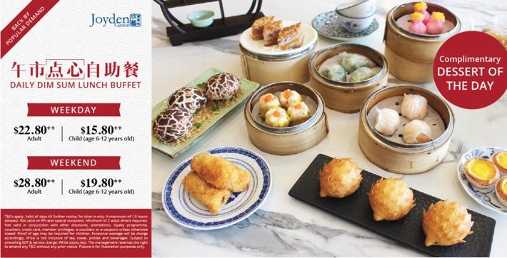 Joyden-Canton buffet prices