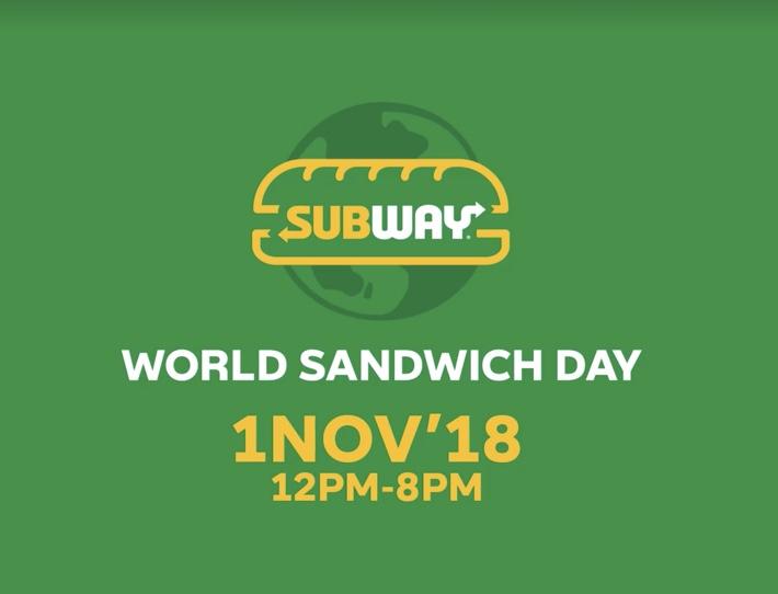 subway free sandwich day