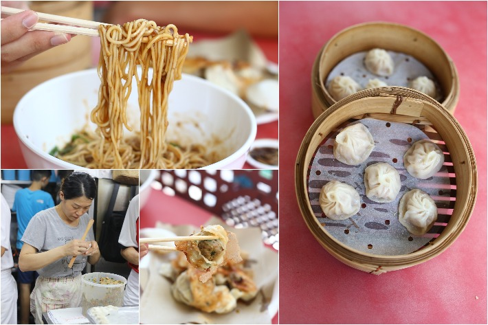 zhong guo la mian xiao long bao collage