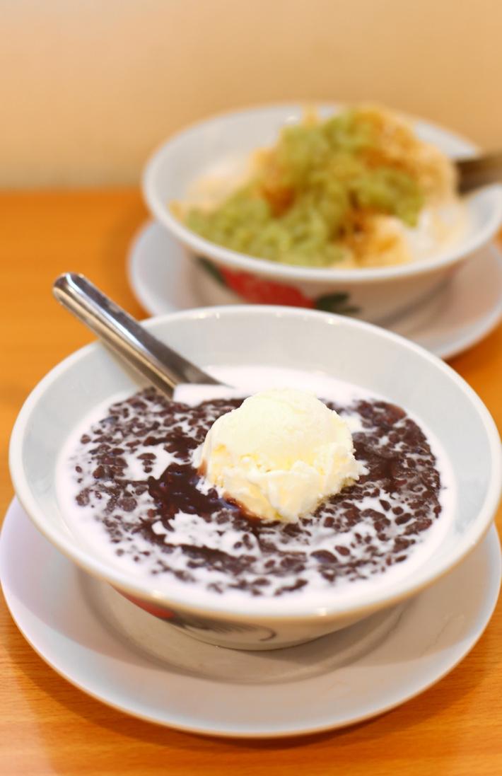 Chilled Black Rice with Vanilla Ice Cream
