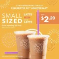 Coffee Bean promo $2.20 iced latte