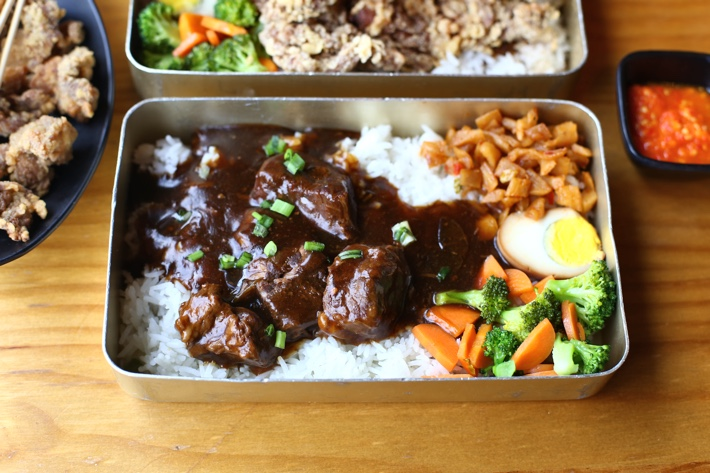 Beef Up Steamed Beef Rice Set