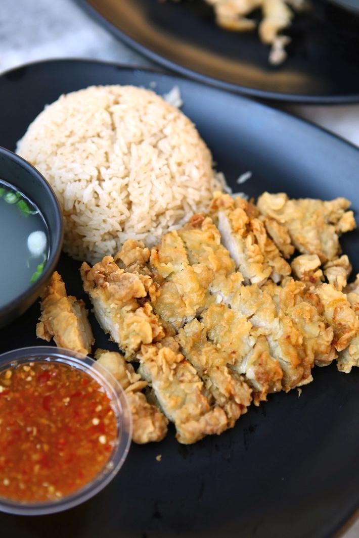 Hainanese Salt Baked Chicken Sour & Spicy Chicken Chop