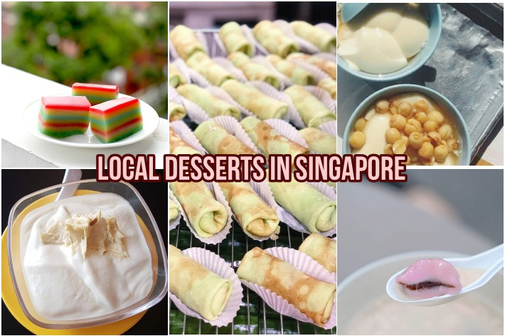 Local Desserts in Singapore Collage