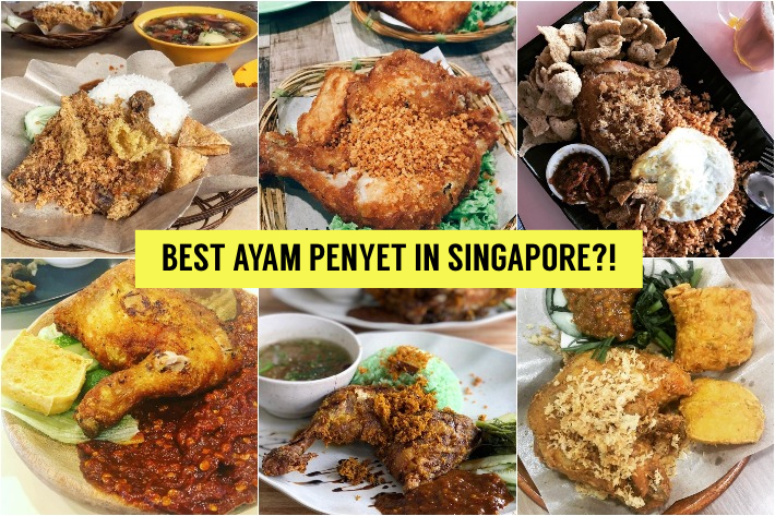 Ayam Penyet Singapore Collage