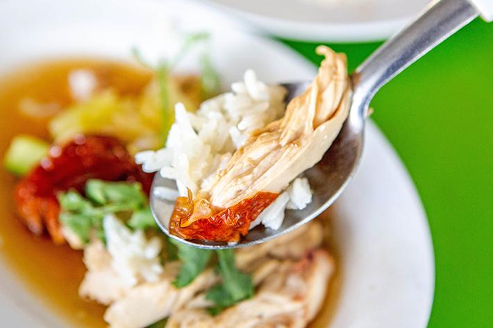 Pin Xiang Hainanese Chicken Rice Close Up