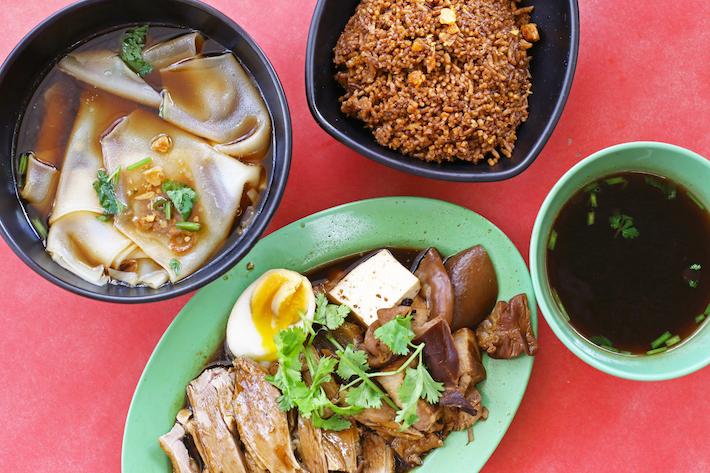Jin Ji Teochew Braised Duck & Kway Chap Flatlay