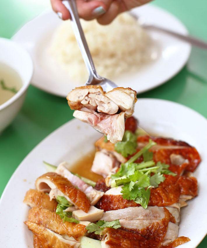 Chen Ji Chicken Rice On Spoon