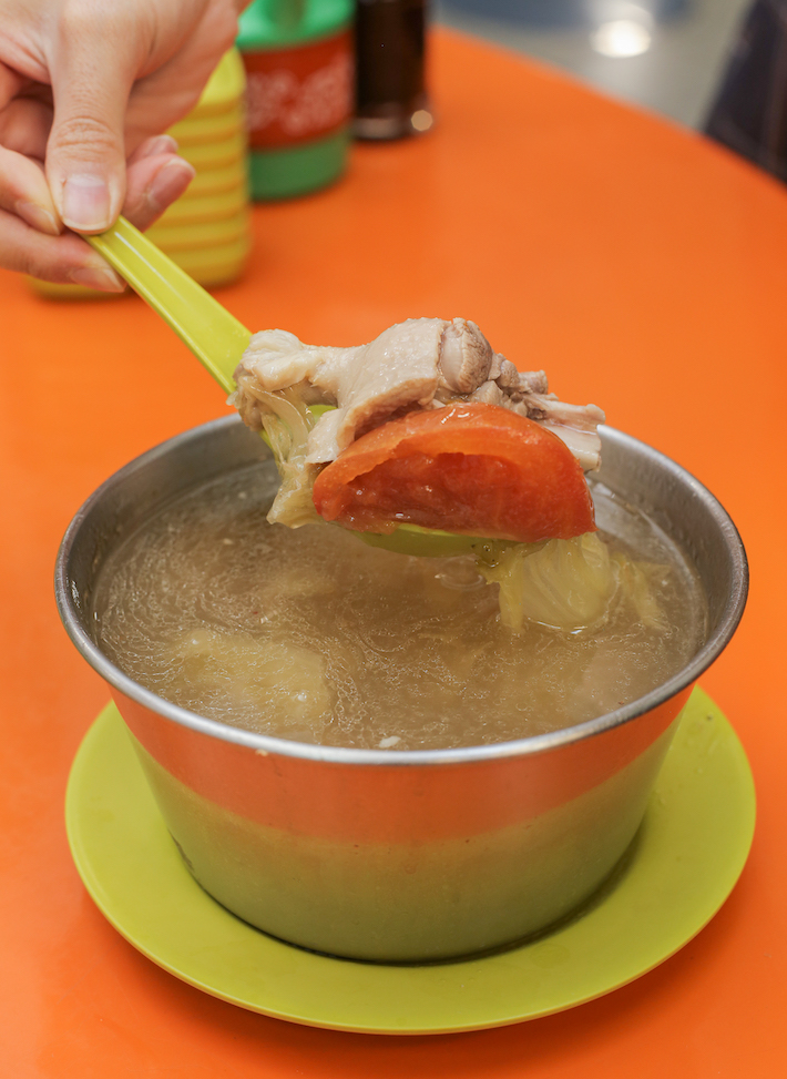 Hainanese Delicacy Salted Veg Duck Soup