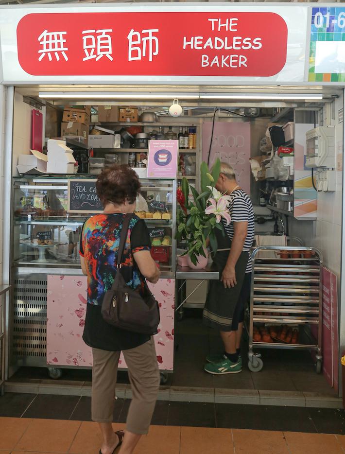 The Headless Baker Stall Front