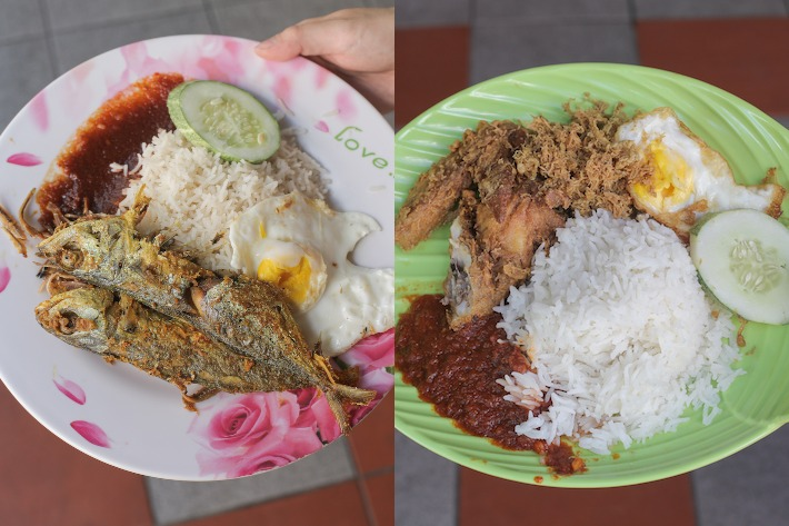 Mizzy and Changi Nasi Lemak Collage